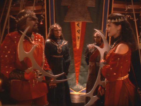 klingon wedding Worf Dax
