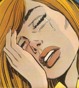 illustration woman crying comic
