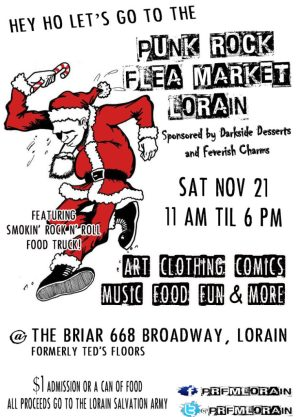 Final flier for Punk Rock Flea Market Lorain