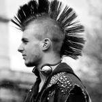 hot mohawk punk rock guys 80s hair spray addict