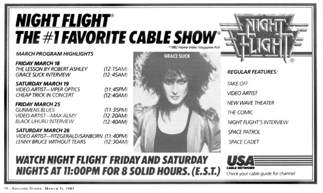 MTV and music variety shows of the 80s
