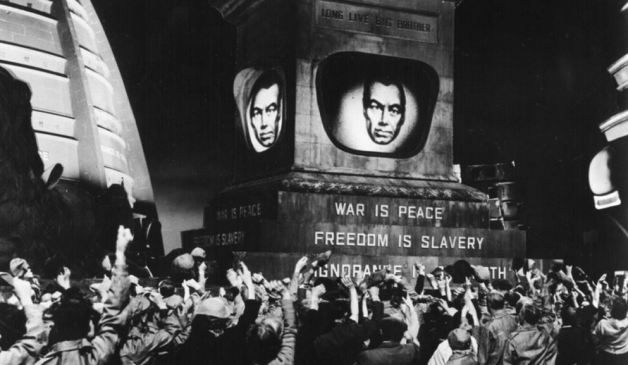 Industrial is Dystopian Goth Music ministry-of-truth-orwell