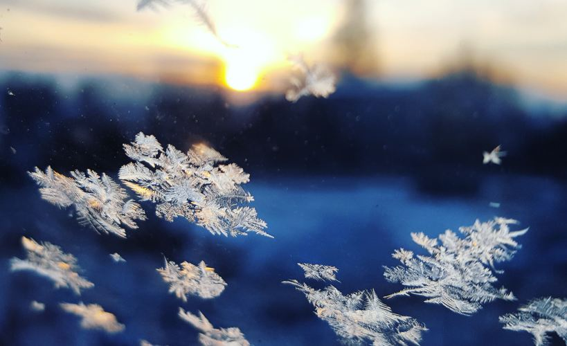 Close up of snowflakes