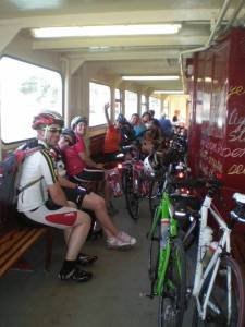 Bike Gang on Cowes chain ferry