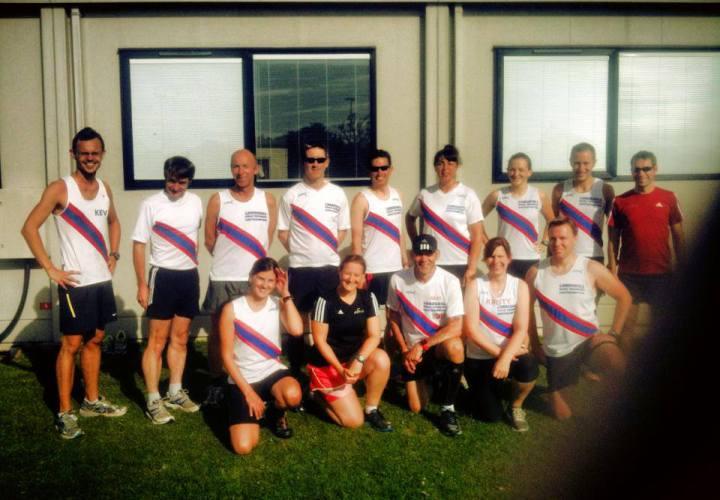 LRR group photo at Brockenhurst parkrun