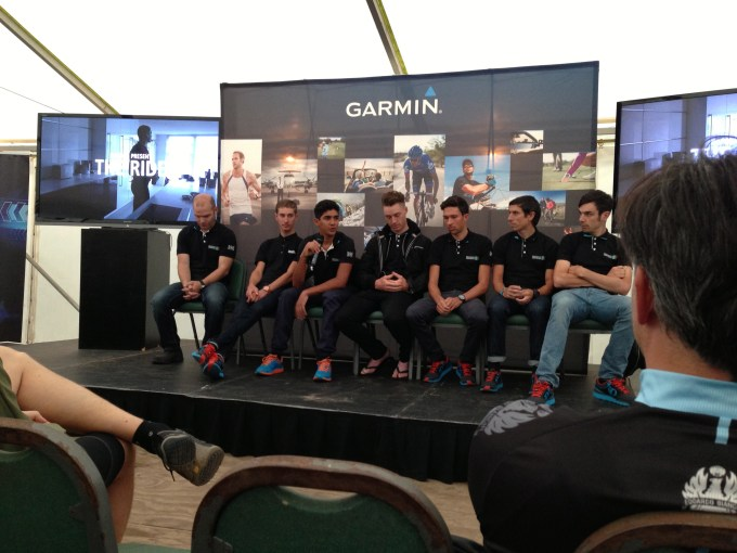The young riders from Madison Genesis being interviewed.