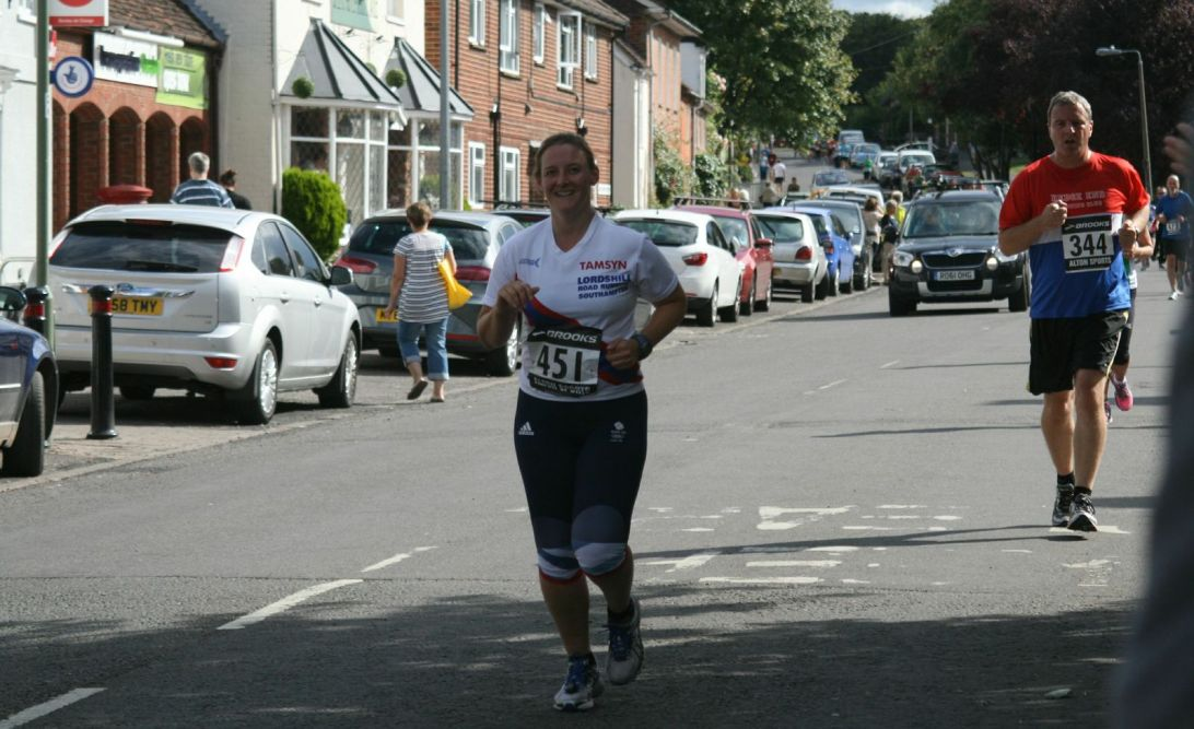 Tamsyn running in Overton