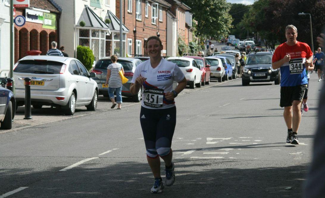 Tamsyn running in Overton