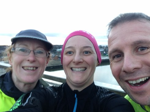 Teri, Justin and I at the top of the Itchen Bridge