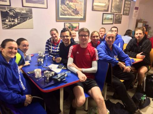 LRRs enjoying a cuppa after parkrun