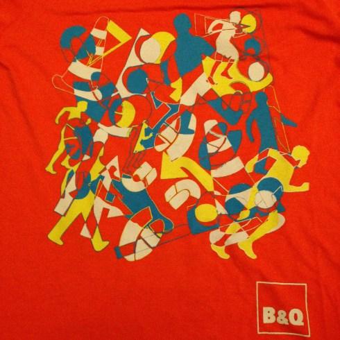 This year's 'vibrant' tshirt design