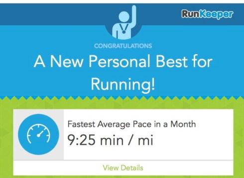 According to Run Keeper February was good!