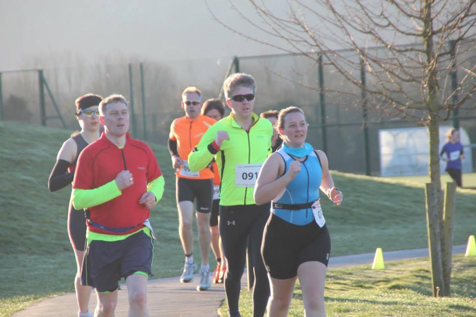 Tamsyn during the run at Winchester Duathlon