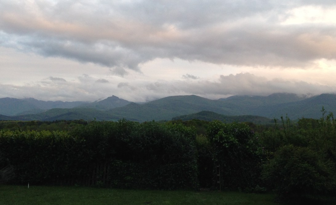 View of the mountains from the Farmhouse