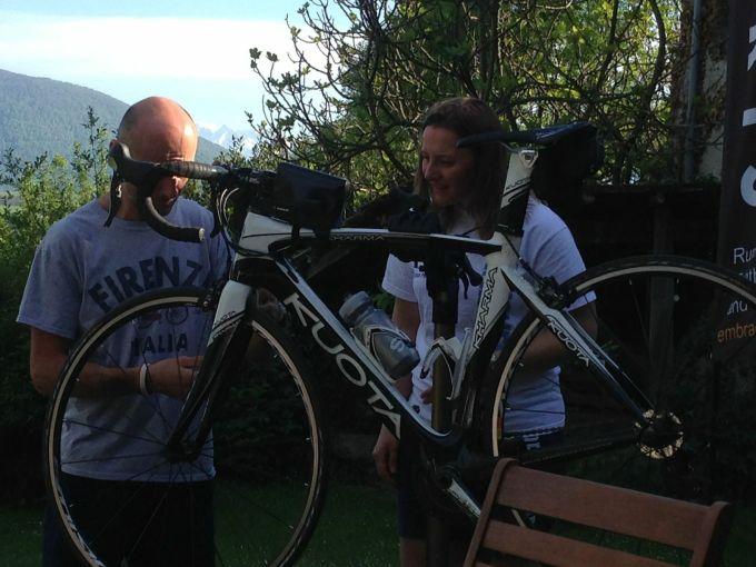 Jose helping to fix my bike and teaching me basic maintenance