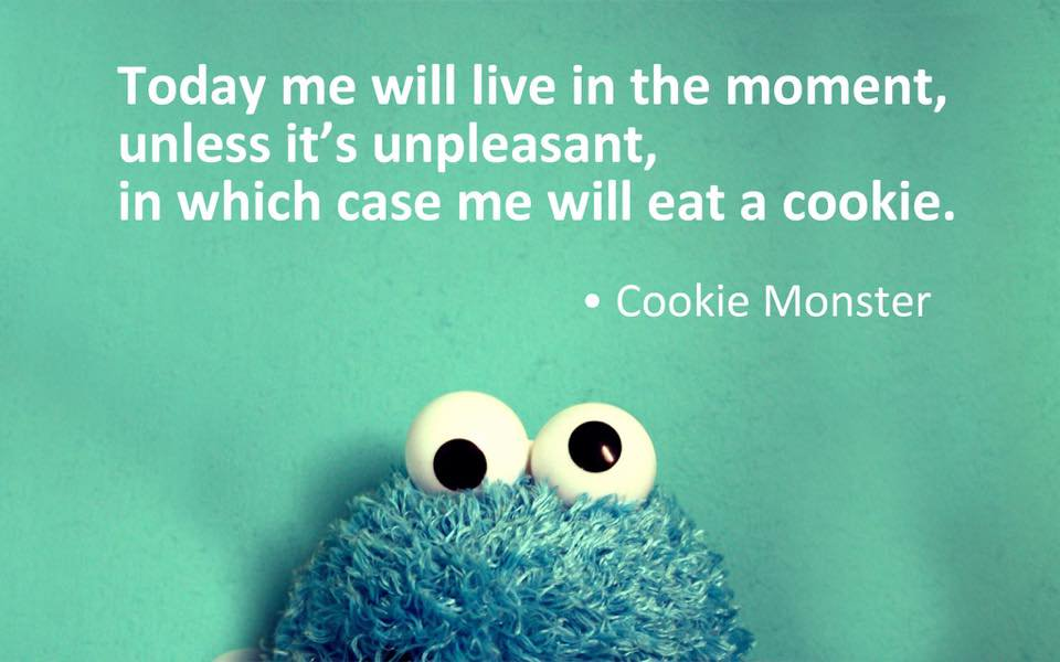 Live in the moment - Cookie Monster