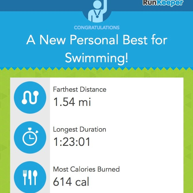 Screenshot from RunKeeper