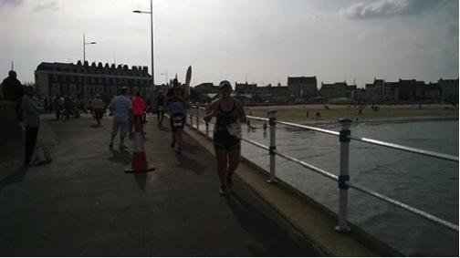 Tamsyn running in Weymouth.