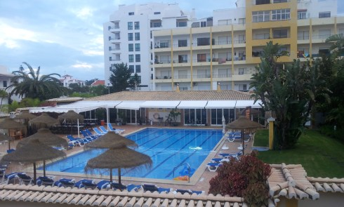 A view of the Giramar 'clubhouse' and pool.