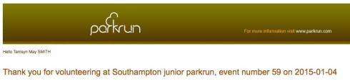 Volunteer at junior parkrun