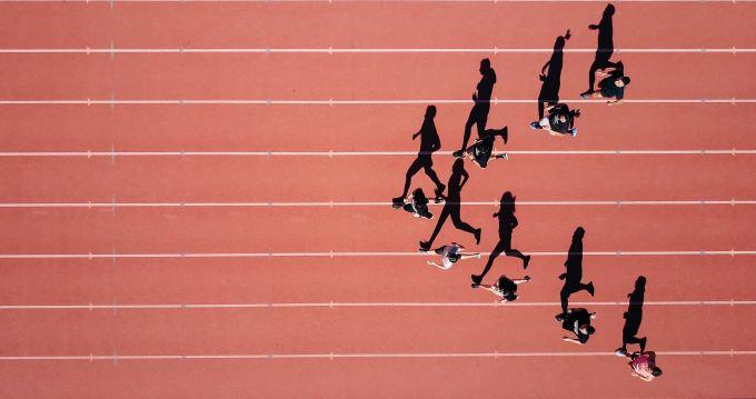 Track running.