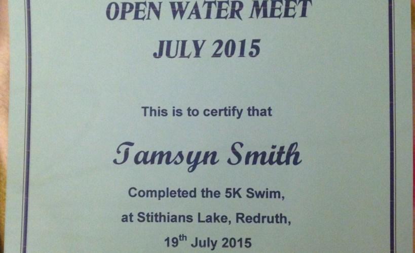 5km swim certificate