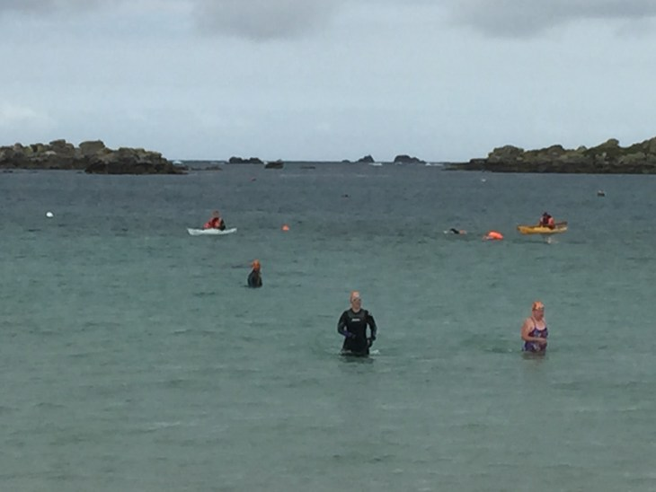Tamsyn in the sea