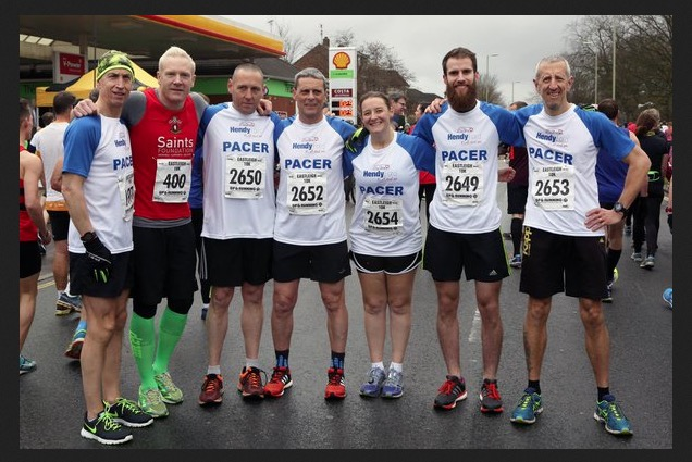Lining up as a pacer at Eastleigh 10k