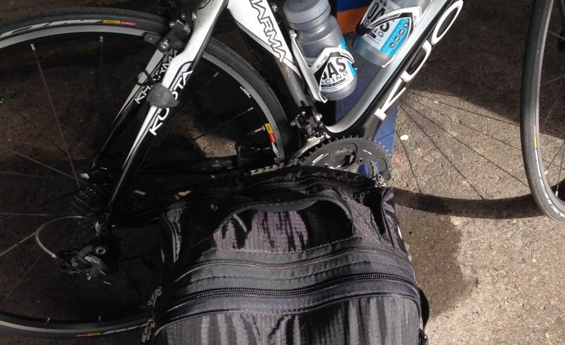 Tamsyn's bike and bag