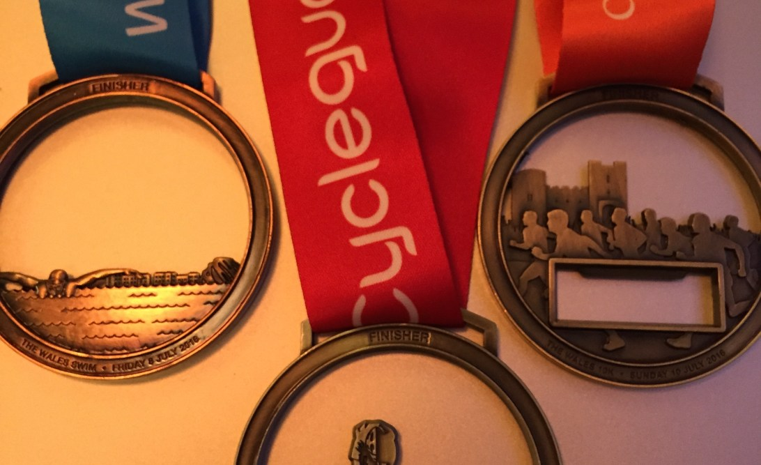 My three medals from the Long Course Weekend
