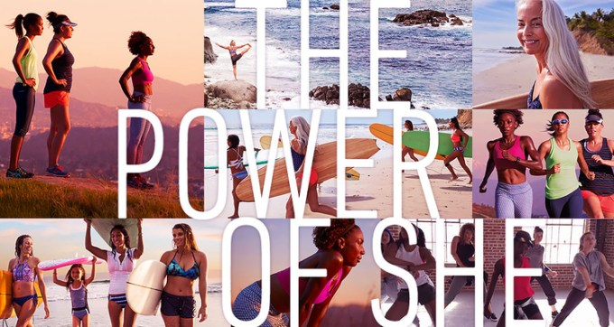 Power of She montage showing women playing sports