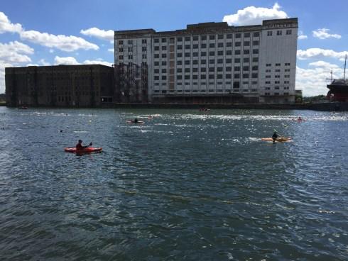 View of the London Tri swim course