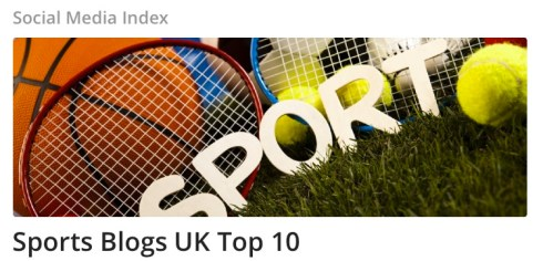 Vuelio Sports Blogs UK Top 10