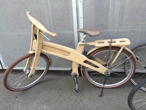 wooden bike in Denmark