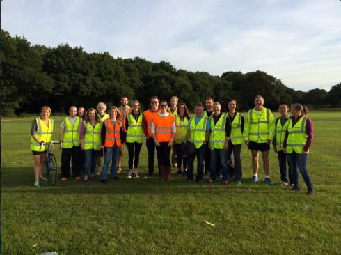 Volunteers from University of Southampton volunteers © Ruth Bartlett