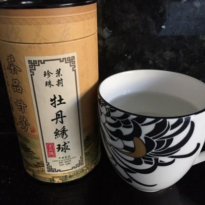 A mug of jasmine tea