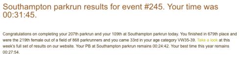 Southampton parkrun February 18th 2017