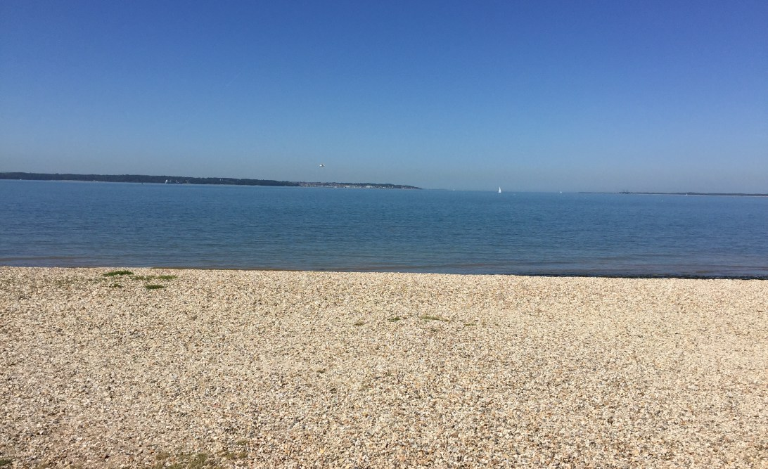 The sea at Lee on Solent