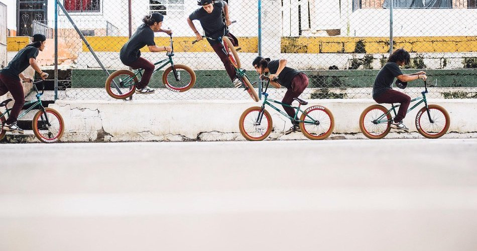 Julián Molina doing a Wallride 180 (trick on a BMX bike)