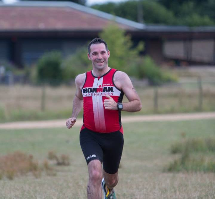 Stuart finishing HOWL aquathlon
