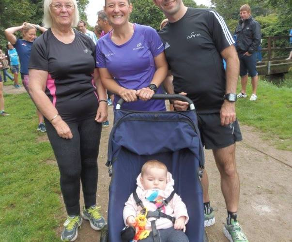 Stuart, Tamsyn, Sandra and M at Penrose parkrun
