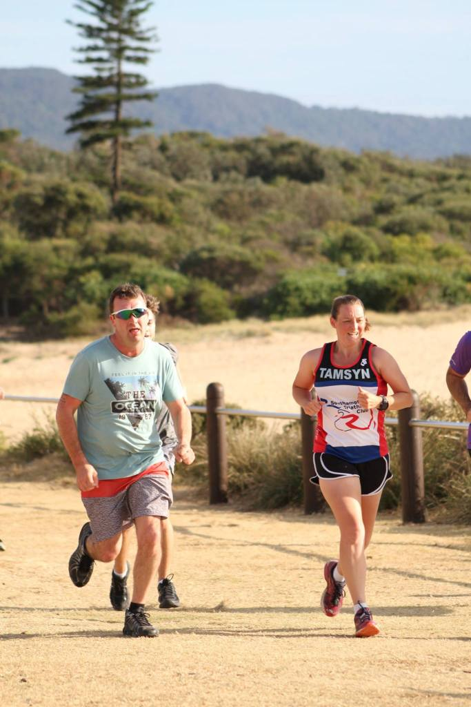 Tamsyn during her second parkrun at North Wollongong.