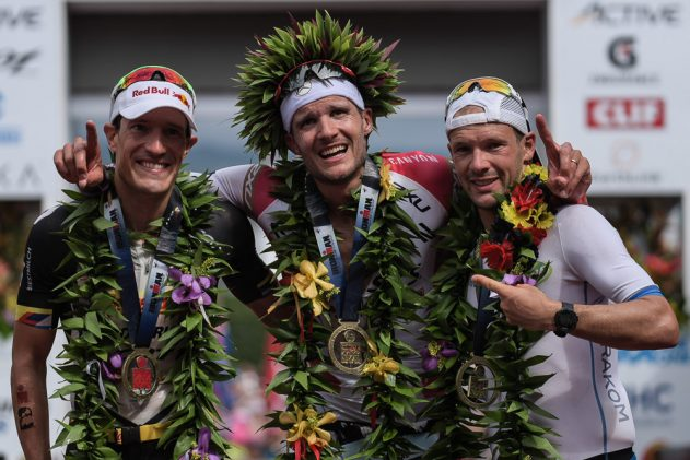 Men on the Kona podium in 2017
