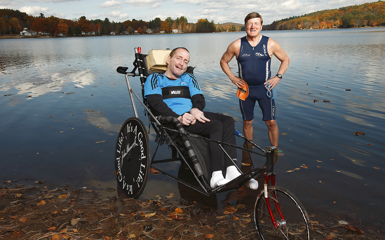 Dick and rick hoyt ironman