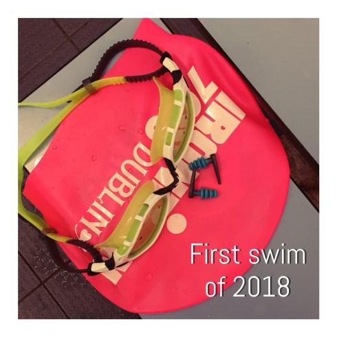 First swim of 2018