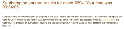 Southampton parkrun 27 Jan 18
