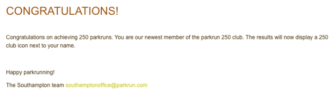 250 parkruns email