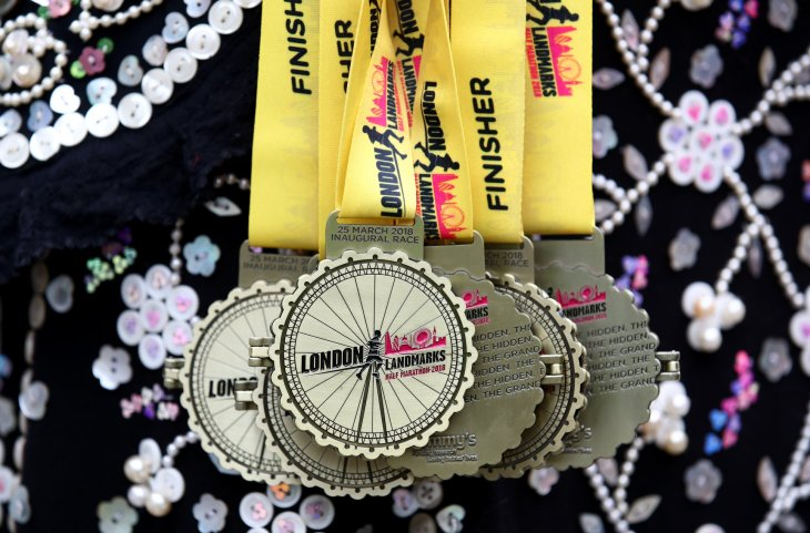 LLHM medals being held by a Pearly