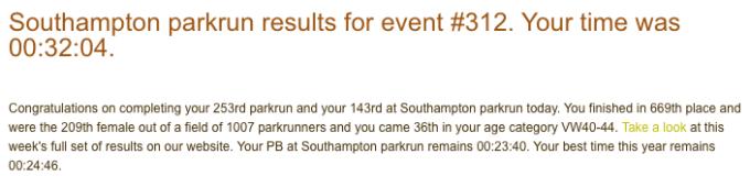 Southampton parkrun 9 June