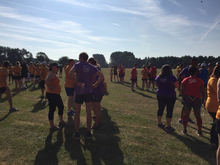 Chatting before the start of Leamington parkrun